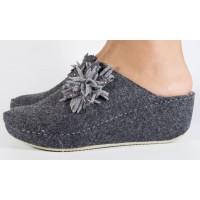 Papuci de casa MUBB gri din lana dama/dame/femei (cod 6624.2)