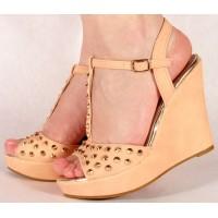 Sandale platforma cu tinte dama/dame/femei (cod PB9976A)