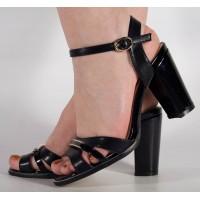 Sandale negre elegante dama/dame/femei (cod 15-148003)