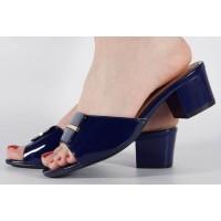 Saboti/Papuci bleumarin foarte eleganti dama/dame/femei (cod 15-46203)