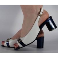 Sandale albe foarte elegante dama/dame/femei (cod 15-46217)