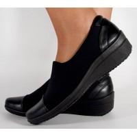 Pantofi negri foarte comozi dama/dame/femei (cod 15-13209)