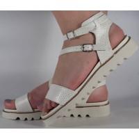 Sandale albe plane dama/dame/femei (cod 16-088026)