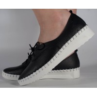 Pantofi negri piele naturala dama/dame/femei (cod 16-122092)