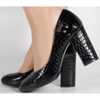 Pantofi office negri de lac dama/dame/femei (cod 15-7176)
