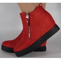 Pantofi platforma rosii foarte comozi dama/dame/femei (cod 16016)