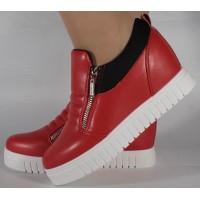 Pantofi rosii platforma foarte comozi dama/dame/femei (cod 164017)