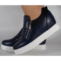 Pantofi bleumarin platforma foarte comozi dama/dame/femei (cod 164017)