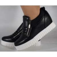 Pantofi negri platforma foarte comozi dama/dame/femei (cod 164017)