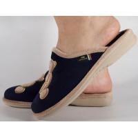 Papuci de casa roz din bleumarin dama/dame/femei (cod PATTY)