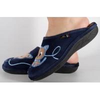 Papuci de casa bleumarin din plus dama/dame/femei (cod ERI)