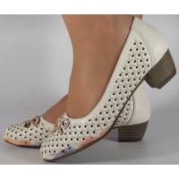 Pantofi bej perforati dama/dame/femei (cod 028450)