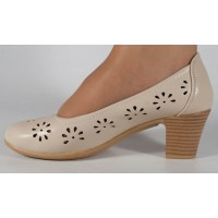 Pantofi bej perforati dama/dame/femei (cod 022035)