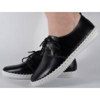 Pantofi negru din piele naturala dama/dame/femei (cod 159011)