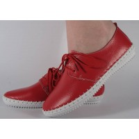 Pantofi rosii din piele naturala dama/dame/femei (cod 159011)