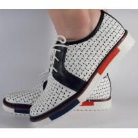 Pantofi perforati albi dama/dame/femei (cod 028468)