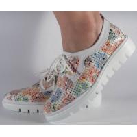 Pantofi perforati multicolori dama/dame/femei (cod 028462)