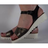 Sandale platforma negre dama/dame/femei (cod 022039)