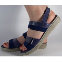 Sandale platforma piele naturala bleumarin dama/dame/femei (cod 4625-56)