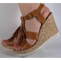 Sandale platforma piele naturala dama/dame/femei (cod D117)