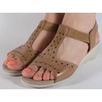 Sandale platforma maro piele naturala dama/dame/femei (cod 242055)