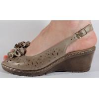 Sandale platforma kaki piele naturala dama/dame/femei (cod 360050)