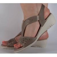 Sandale platforma kaki piele naturala dama/dame/femei (cod 242040)