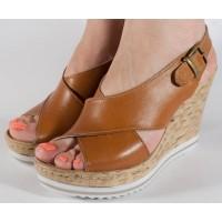 Sandale platforma piele naturala dama/dame/femei (cod D104)