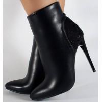 Botine negre elegante dama/dame/femei (cod 071111)