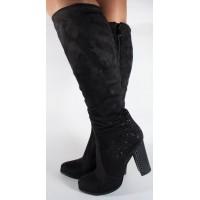 Cizme elegante negre foarte comode dama/dame/femei (cod 048489)