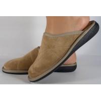 Papuci de casa bej din velur dama/dame/femei (cod 15-148003)