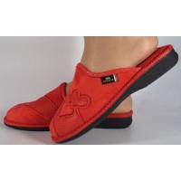 Papuci de casa rosii din plus dama/dame/femei (cod BECKY)