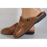 Papuci de casa bej din plus dama/dame/femei (cod BECKY)