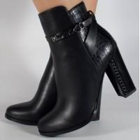 Botine negre elegante dama/dame/femei (cod 048497)