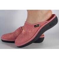 Papuci de casa bej din plus dama/dame/femei (cod 17-136)