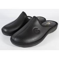 Papuci de casa negri pentru barbati (cod 17-191)