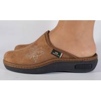 Papuci de casa maro din plus dama/dame/femei (cod 17-148)
