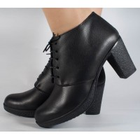 Botine/Pantofi negre din piele dama/dame/femei (cod SBF3)