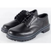 Pantofi/Ghete negri, pentru barbati, din piele naturala 100% (cod SPBL2)