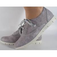 Pantofi gri piele naturala dama/dame/femei (cod SPF01)
