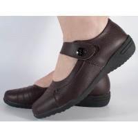 Pantofi platforma maro piele naturala dama/dame/femei (cod B078484)