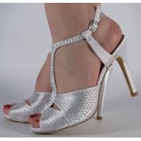 Sandale albe elegante dama/dame/femei (cod B712993)