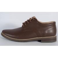 Pantofi maro de barbati din piele naturala (cod SPB01)