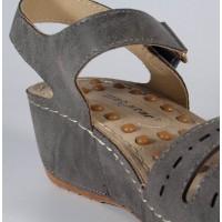 Sandale platforma gri dama/dame/femei (cod 195001)