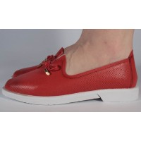 Pantofi rosii piele naturala dama/dame/femei (cod 122127)