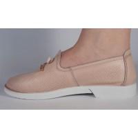 Pantofi roz piele naturala dama/dame/femei (cod 122127)