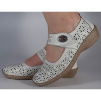 Pantofi platforma perforati albi piele naturala dama/dame/femei (cod B739894)