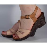 Sandale roz maro platforma piele naturala dama/dame/femei (cod 3045-5)