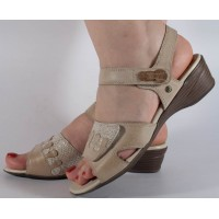 Sandale Reflexan crem piele naturala dama/dame/femei (cod 71705-53)