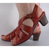 Sandale Reflexan rosii piele naturala dama/dame/femei (cod 72210-05)